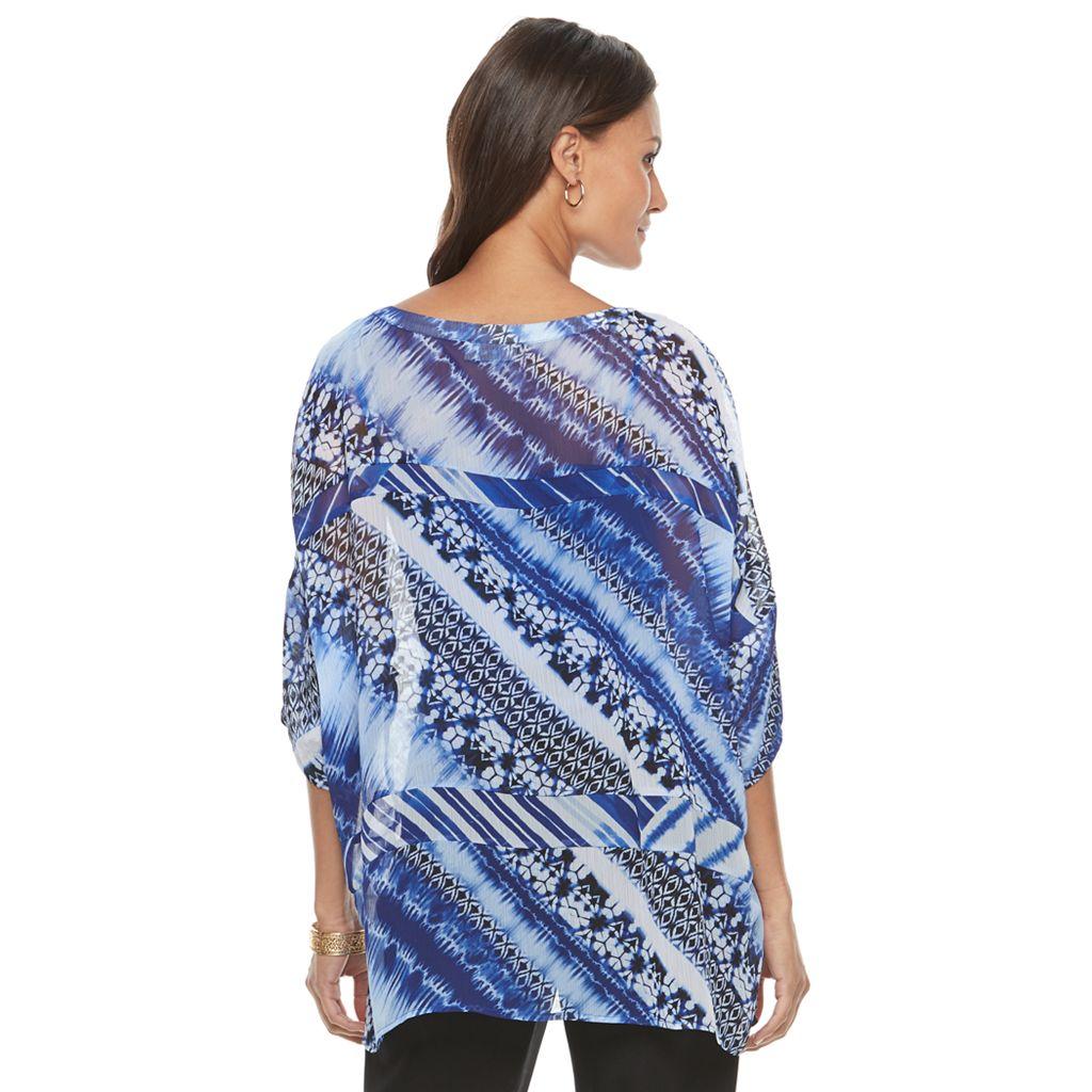 Women's Dana Buchman Printed Asymmetrical Top