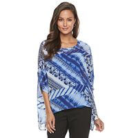 Women's Dana Buchman Printed Asymmetrical Top