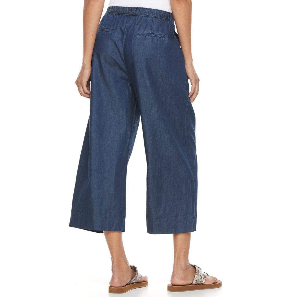 Women's Dana Buchman Wide-Leg Capri Jeans