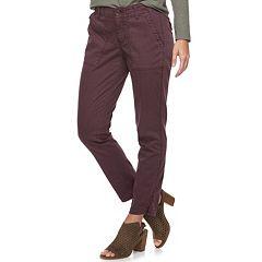 Women's SONOMA Goods for Life™ Straight-Leg Twill Ankle Pants
