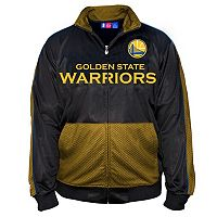Big & Tall Majestic Golden State Warriors Tricot Track Jacket