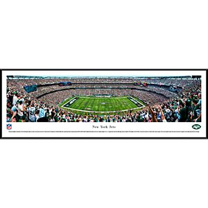 New York Jets Stadium 50-Yard Line Framed Wall Art