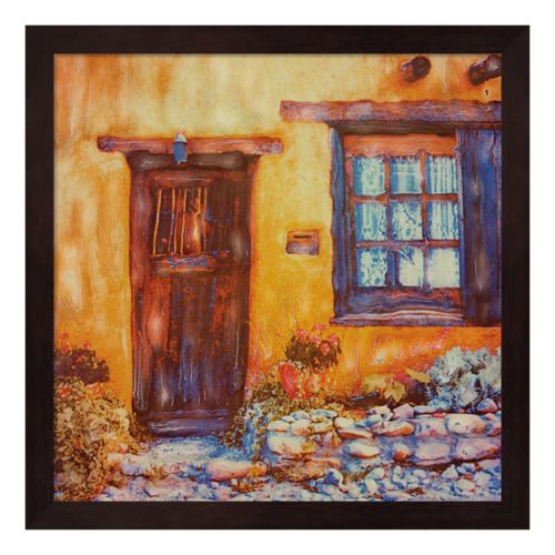 Old Brown Door & Window Framed Wall Art