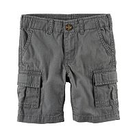 Boys 4-8 Carter's Solid Cargo Shorts