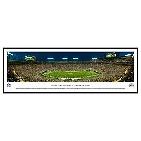 Green Bay Packers Stadium 50-Yard Line Night Framed Wall Art