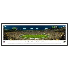 Green Bay Packers Stadium 50-Yard Line Night Framed Wall Art