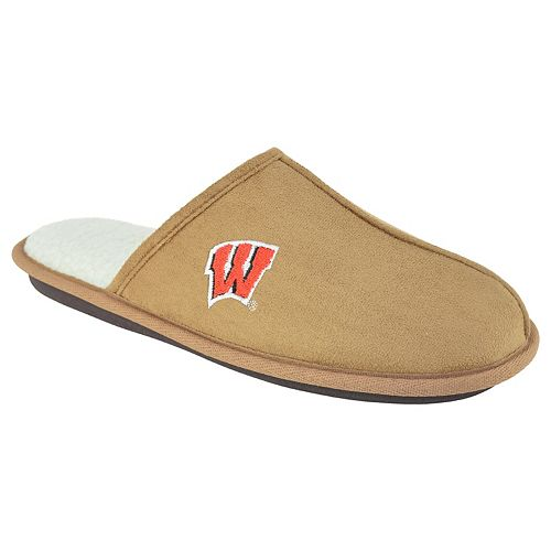 Men's Wisconsin Badgers Scuff Slipper Shoes