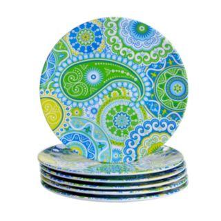 Certified International Boho 6-pc. Salad Plate Set