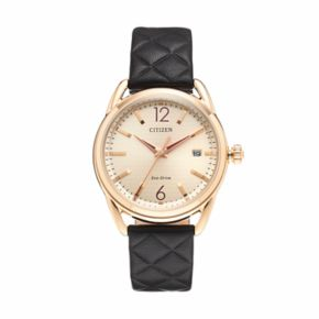 Drive from Citizen Eco-Drive Women's LTR Quilted Leather Watch - FE6083-13P