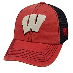 Adult Wisconsin Badgers Crossroads Vintage Snapback Cap
