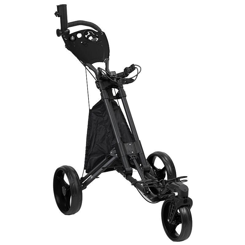 JEF World of Golf EZ Fold 3-Wheel Golf Cart, Black
