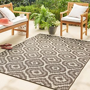 Mohawk® Home Oasis Morro Striped Border Indoor Outdoor Rug