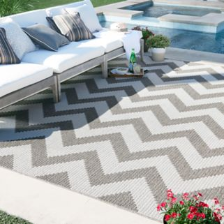 Mohawk® Home Oasis Tofino Chevron Indoor Outdoor Rug