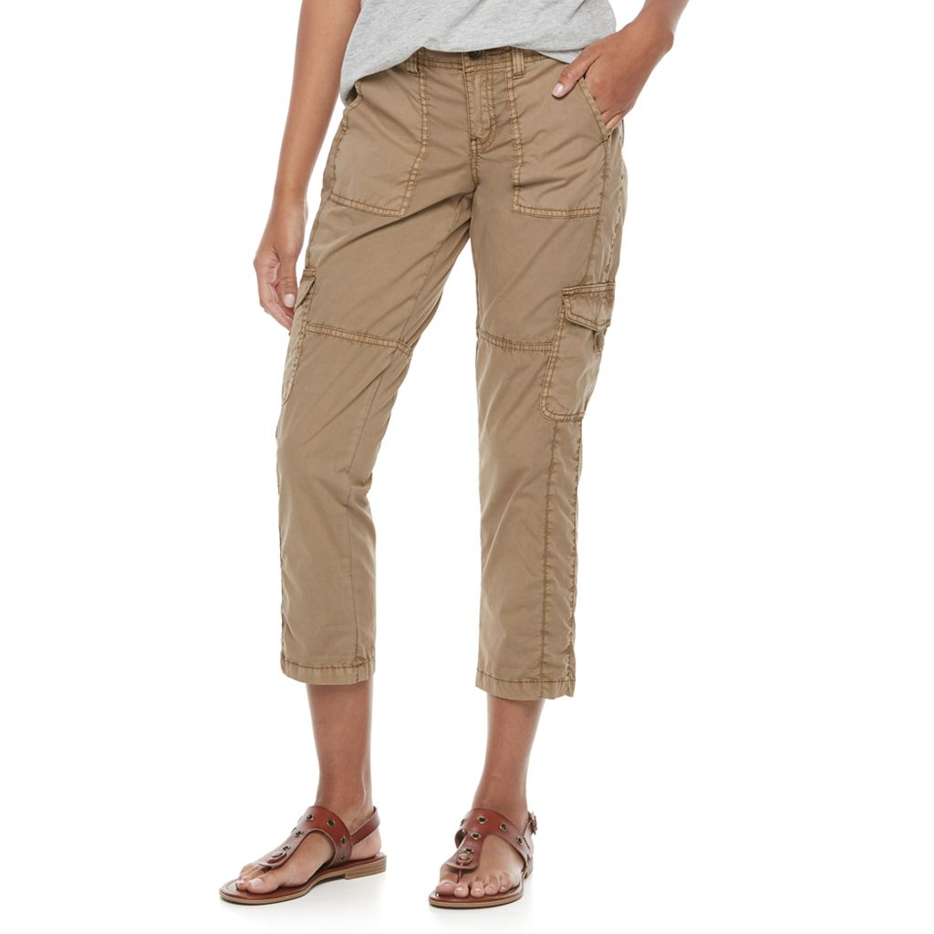 Petite SONOMA Goods for Life™ Tie Hem Cargo Capri Pants