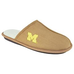 Men's Michigan Wolverines Scuff Slipper Shoes