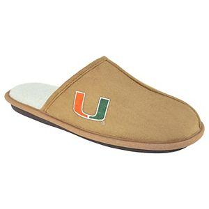 Men's Miami Hurricanes Scuff Slipper Shoes