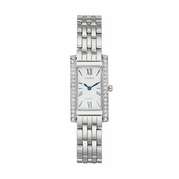Citizen Eco-Drive Women's Silhouette Crystal Stainless Steel Watch - EX1470-51A