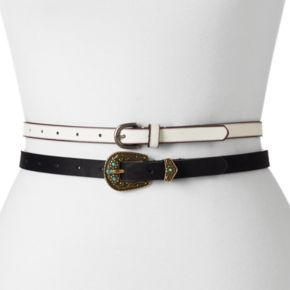 Mudd® Western 2-for-1 Belt Set