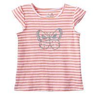 Toddler Girl Jumping Beans® Striped Flutter Sleeve Glitter Graphic Tee