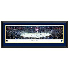 St. Louis Blues Stadium Center Ice Framed Wall Art