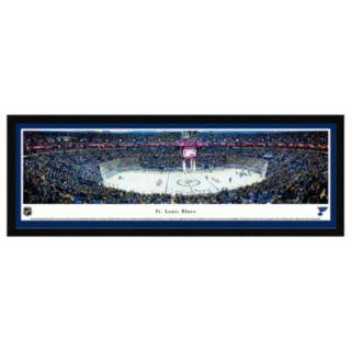 St. Louis Blues Stadium Center Ice Framed Wall Art