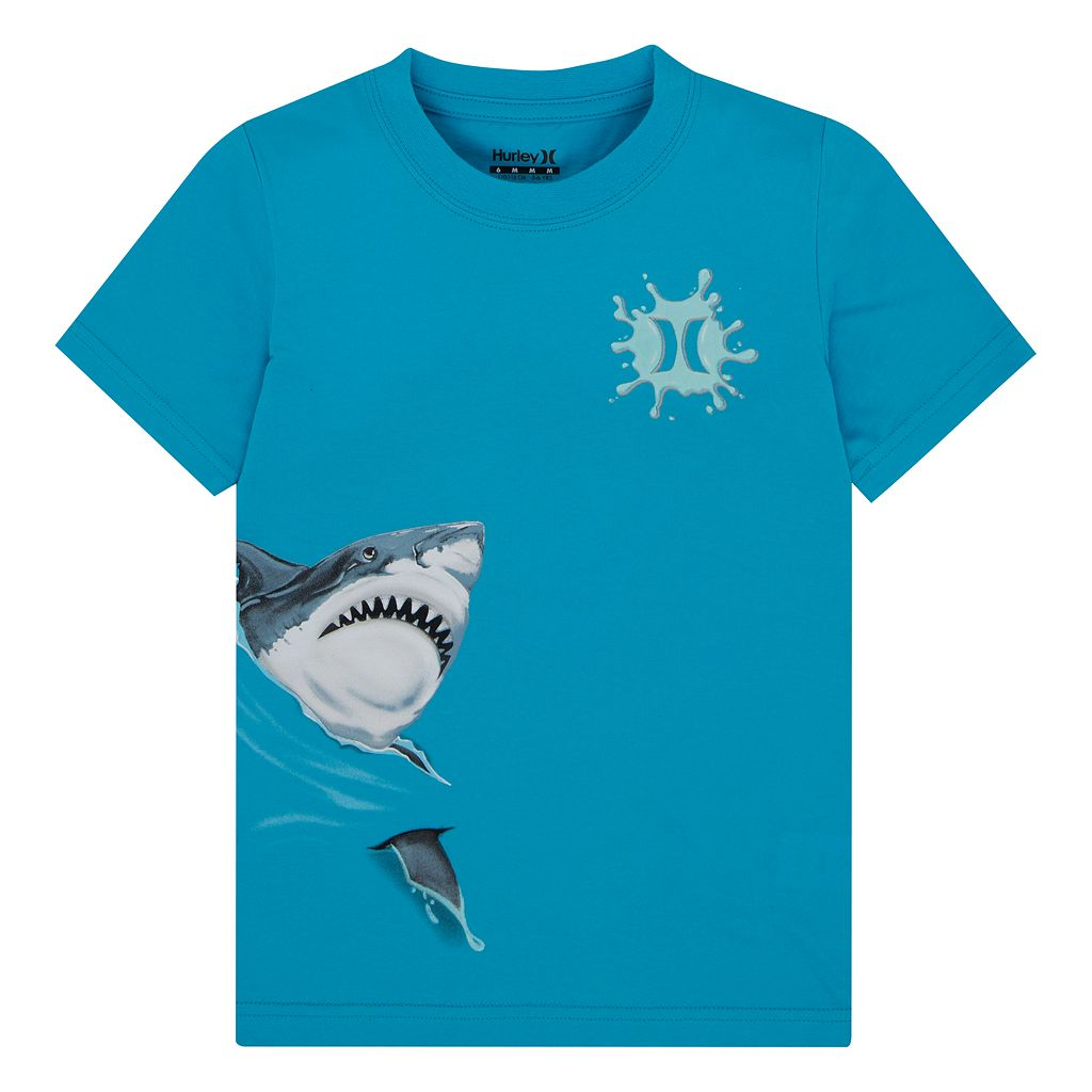 Boys 4-7 Hurley Wrap-Around Graphic Shark Tee