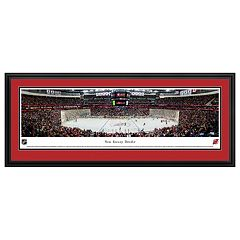 New Jersey Devils Stadium Center Ice Framed Wall Art