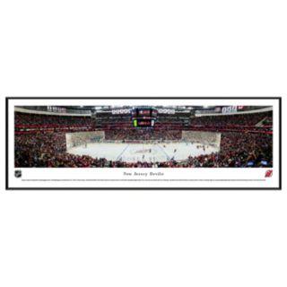 New Jersey Devils Stadium Center Ice Framed Wall Art