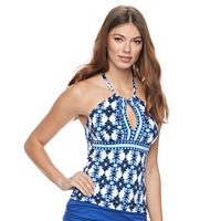 Women's Apt. 9® Printed Halterkini Top