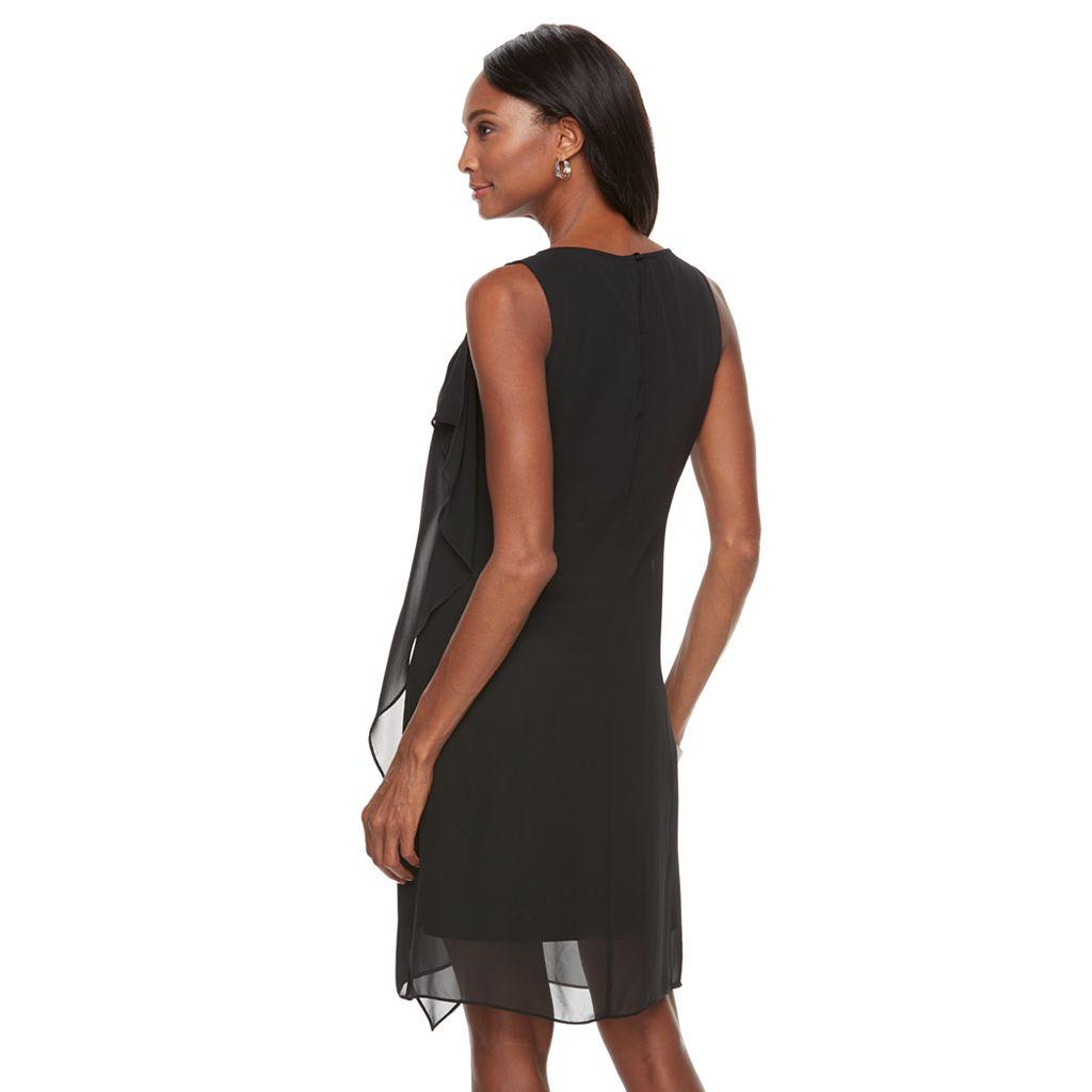 Women's Dana Buchman Cascade Overlay Shift Dress