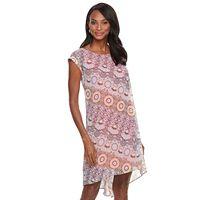 Women's Dana Buchman Printed Crepe Popover Dress