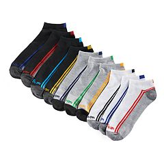 Men's Wilson 10-pack Flat-Knit No-Show Socks