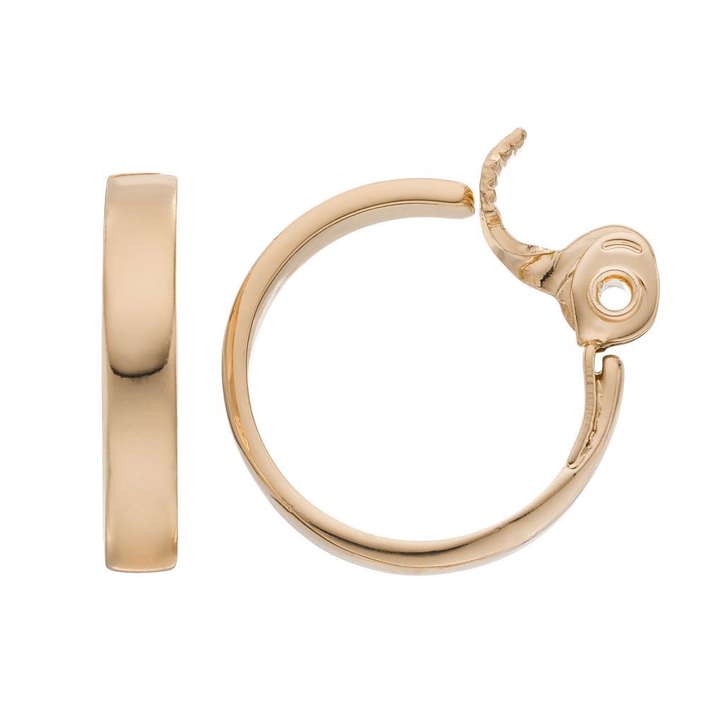 Napier Clip On Nickel Free Hoop Earrings