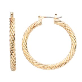 Napier Twisted Hoop Earrings
