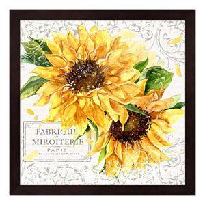 Summertime Sunflowers I Framed Wall Art