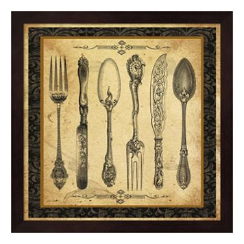 Adriana Silverware Vignette II Framed Wall Art