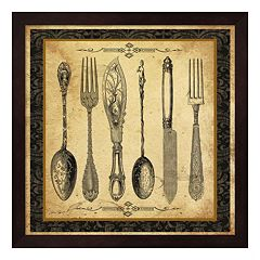 Adriana Silverware Vignette Framed Wall Art