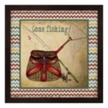 """Gone Fishing"" Framed Wall Art"