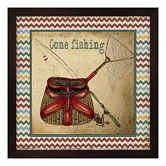 'Gone Fishing' Framed Wall Art