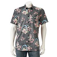 Men's DC Comics Batman Floral Button-Down Shirt