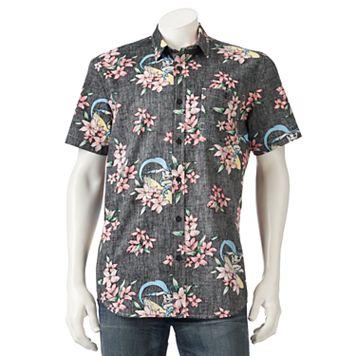 Men's DC Comics Batman Floral Button-Down Shirt