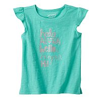 Toddler Girl Jumping Beans® Flutter Short Sleeve Glitter Graphic Tee