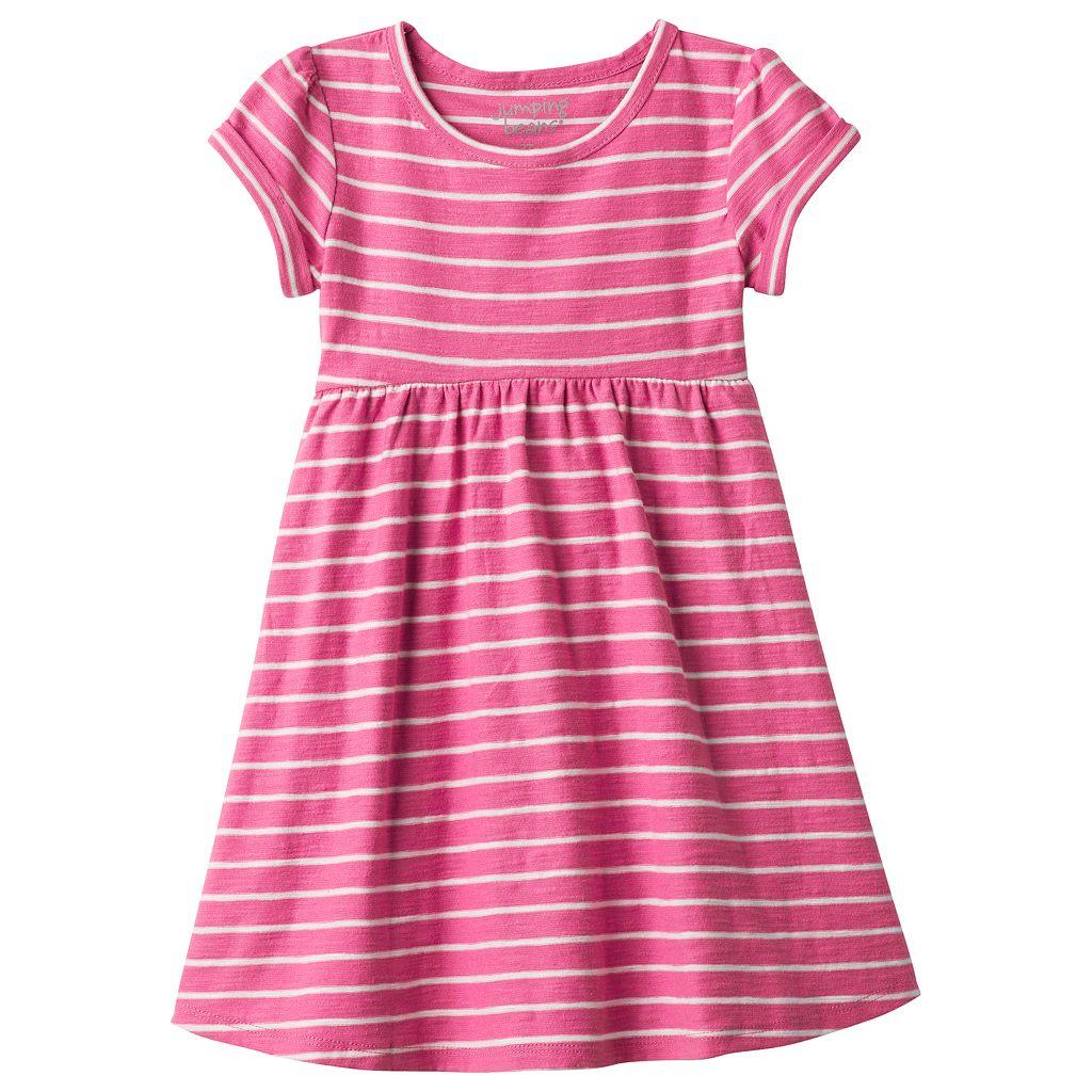 Toddler Girl Jumping Beans® Striped Roll Cuff Dress