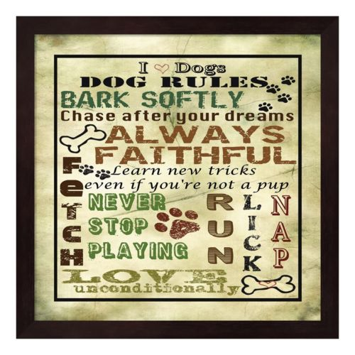 I Love Dogs Framed Wall Art