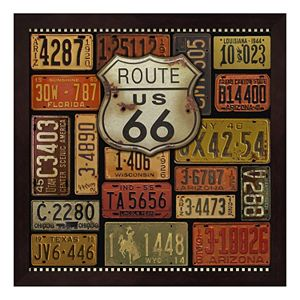 """Route 66"" Framed Wall Art"