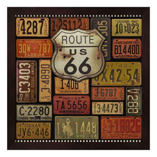 """Route 66"" Framed Wall Art"