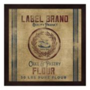 Cake Flour Burlap Bag Framed Wall Art