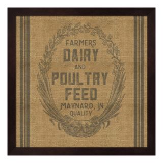"""Farmers Dairy"" Framed Wall Art"