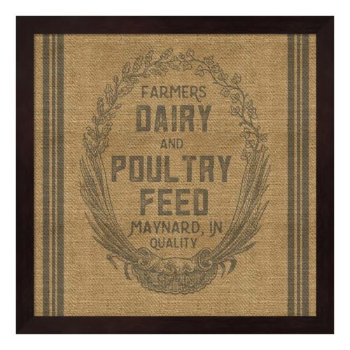 """Farmers Dairy"" Framed Wall Art"