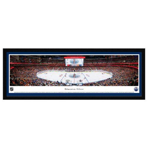Edmonton Oilers Stadium Center Ice Framed Wall Art